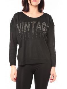 Pull Vintage & Dressing 8233 Noir - vetement femme