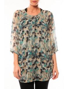 Tunic Katty Lee 3/4 10105918 Bleu/Vert - vetement femme